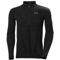 Helly Hansen H1 Pro Lifa Seamless 1/2 zip, herre, sort