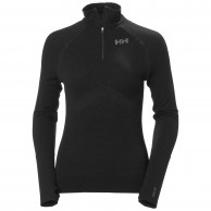 Helly Hansen H1 Pro Lifa Seamless 1/2 zip, dame, sort
