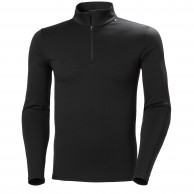 Helly Hansen Lifa Merino Lightweight 1/2 Zip, herre, sort