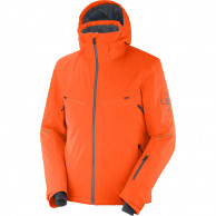 Salomon Brilliant JKT M, skijakke, herre, orange