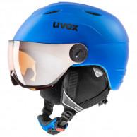 Uvex junior visir pro, skihjelm med visir, blå