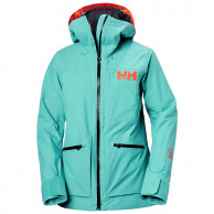 Helly Hansen Powderqueen 3.0, skijakke, dame, turkis