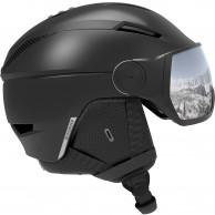 Salomon Pioneer Visor, skihjelm med visir, sort/sølv