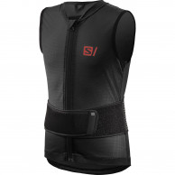 Salomon Flexcell Light Vest Junior, rygskjold, sort
