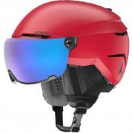 Atomic Savor Visor Stereo, skihjelm med visir, rød