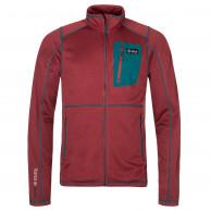 Kilpi Eris, fleece jakke, herre, mørkerød