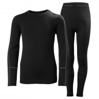 Helly Hansen Lifa Merino Midweight, sæt, junior, sort