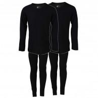 TrueNorth 2 sæt skiundertøj, børn/junior, sort