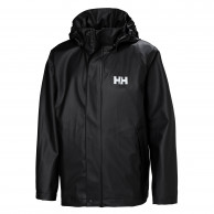 Helly Hansen Moss regnjakke, junior, sort