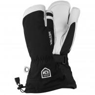 Hestra Army Leather Heli 3 finger skihandsker, sort