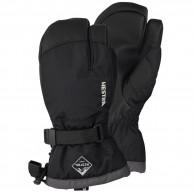 Hestra Gauntlet 3-finger skihandsker, junior, sort