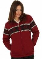 Kama norsk sweater m. hætte, dame