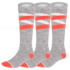 4F 3 par billige skistrømper, dame, cold light grey