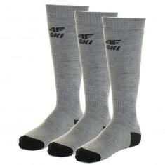 4F 3 par billige skistrømper, herre, cold light grey