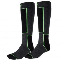4F Ski Socks, 2 par billige skistrømper, mørkegrå