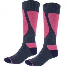 4F Ski Socks, skistrømper til damer, 2-par, blå/violet