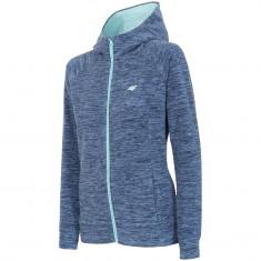 4F Warm Fleece hoodie, dame, blå