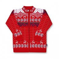 Kama nordisk sweater til børn, hel lynlås