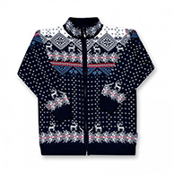 Kama nordisk sweater, børn, blå