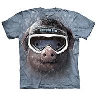 Powder pig - T-shirt - Voksen