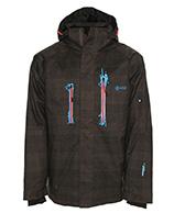 Kilpi Caizel, snowboardjakke til mænd, brun
