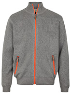 Weather Report, Darwin Sweater med Windbreaker, grå