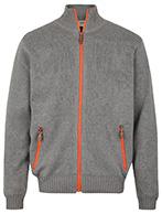 Weather Report, Darwin Sweater med Windbreaker, grå