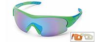 Demon Fuel sportssolbriller, grøn, 3 linser