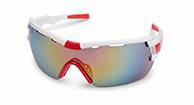 Demon Vuelta cykel solbriller, hvid/rød