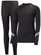 Helly Hansen Lifa, Dry skiundertøj, sæt, junior, sort
