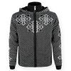 Kama Nordisk striksweater m. Windstopper, sort/hvid