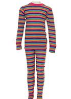 Hulabalu uld skiundertøj, børn, stribet