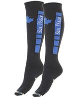 Sun Peaks Moby, billige skistrømper, sort/blå, 2-par