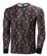 Helly Hansen Active Flow LS Graphic undertrøje, grå