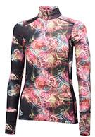 Helly Hansen W Wool Graphic 1/2 zip, sort