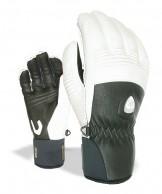 Level Off Piste Leather, handsker, sort/hvid