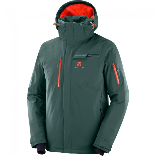 Køb Salomon Brilliant Skijakke Herre til Herre i Grøn til