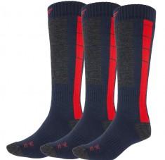 4F Ski Socks, billige skistrømper, herre, 3-par, blå/rød