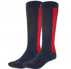 4F Ski Socks, billige skistrømper, herre, 2-par, blå/rød