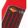 Deluni junior skistrømper, 2 par, rød