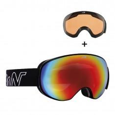 Demon Magnet, skibriller, sort/rød