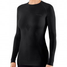 Falke Maximum Warm Longsleeved Shirt Tight Fit, dame, sort