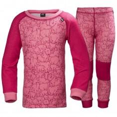 Helly Hansen K Warm, skiundertøj, sæt, pink
