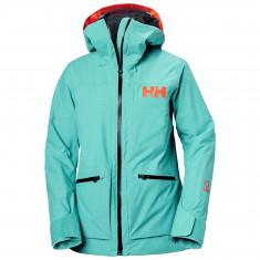 Helly Hansen Powderqueen 3.0, skijakke, dame, turkis