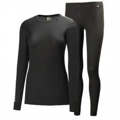 Helly Hansen W Comfort Dry skiundertøj, sæt, dame, sort