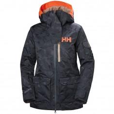 Helly Hansen W Powderqueen 2.0 Skijakke, dame, blue camo