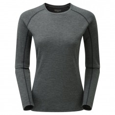 Montane Women's Primino 220 Long Sleeve T-Shirt, Black