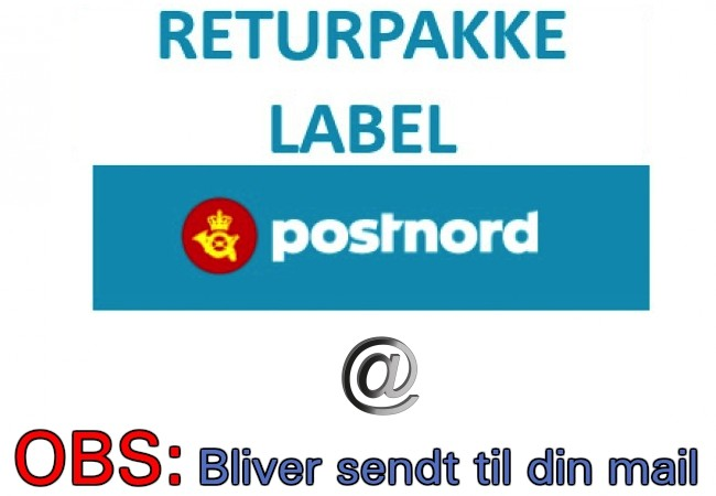 Returforsendelse/label til ombytning