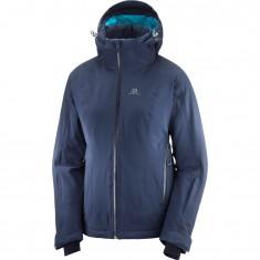 Salomon Brilliant JKT W, skijakke, dame, blå