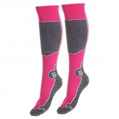 Seger Racer, skistrømper til herre, 2-par, pink